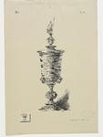 512 De zilveren beker (verguld), door Maximilliaan van Bourgondië aan Veere geschonken op 2 februari 1551, ...