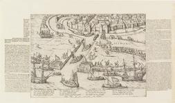 52 Intocht van de troepen van de Prins van Oranje te Middelburg, met 4 x 3 versregels (Duits) en foutieve datering: IX ...