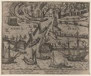 53 Intocht van de troepen van de Prins van Oranje te Middelburg, met 2 x 2 versregels (Latijn)