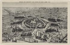 54 Het beleg en ontzet van Goes, met een panorama van de omgeving en de kampementen