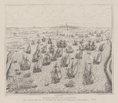 55 De slag bij Lillo, met op de achtergrond de stad Antwerpen. Naar één van de tapijten van J. de Maecht vervaardigd ...