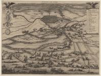 56 Panorama in vogelvlucht van het ontzet van Leiden vanuit het omringende gebied door de Geuzen onder leiding van ...