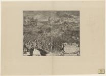 57 Tocht van de Spaanse troepen naar Schouwen en Duiveland door het Zijpe, op de voorgrond gezegend door een priester, ...