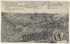59 Tocht van de Spaanse troepen naar Schouwen en Duiveland door het Zijpe, op de voorgrond gezegend door een priester, ...