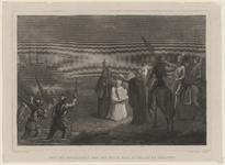 62 Tocht van de Spaanse troepen naar Schouwen en Duiveland door het Zijpe, op de voorgrond gezegend door een priester