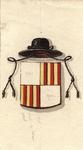 635 Het wapen van de Onze Lieve Vrouwe Abdij te Middelburg, met aantekeningen over de invulling