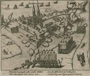 65 De inneming van Bommenede door de Spanjaarden, met 2 x 2 versregels (Latijn) onder en aan de achterzijde een ...