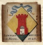 654 Het wapen van Lijntgen Pietersdochter van Heel, met linten
