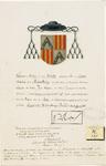657 Het wapen van Nicolaas de Castro van de Burgt of Verborgh, abt (1558-1572) en bisschop van Middelburg (1564-1572), ...
