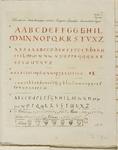 680a-1 Verschillende typen letters in de Codex, met aanduiding van de kleuren