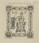 680a-5 Afbeelding van de evangelist Johannes schrijvend aan een lessenaar in de Codex van de Abdij van Egmond