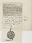 680d Het charter (Latijn), met zegel, waarin graaf Diederik (Dirk) VII van Holland en gravin Aleid de abdij van ...
