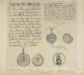 680f Het charter (Latijn), met zegels, waarin graaf Willem I van Holland en Ferrand en Johanna van Vlaanderen te ...