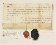 752 Facsimile van een deel van een lijfrentebrief van de abt van Middelburg Pieter van de Capelle (1499-1515) aan ...