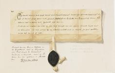756 Facsimile van een deel van een transportbrief van een huis en hofstede van de Augustijnen in de Gravenstraat te ...