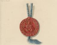 760 Het zegel van de Abdij van Rijnsburg aan een koord, (circa 1800)