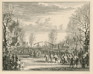 80 Onthaal van de graaf van Leicester, Robert Dudley door het stadsbestuur te Vlissingen, op het latere Bellamypark