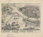82 Kaart van het beleg en de verovering van Sluis door de hertog van Parma, met de ligging van de verschillende troepen ...