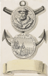 853 De portretpenning (voor- en keerzijde) van Adolf van Bourgondië, heer van Beveren en Veere, admiraal van de zee
