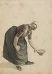 898-10 Een vrouw met een schaal