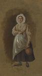 898-7 Een vrouw uit Hulst met een kruik