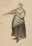 898-8 Een vrouw met een mand
