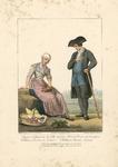 901 Een Walcherse boer en boerin, met tweeregelig onderschrift (Frans/Nederlands)