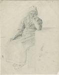 903-16 Een Walcherse vrouw, zittend