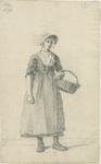 903-23 Een Walcherse vrouw met een hoed en een mand