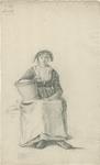 903-32 Een Walcherse vrouw met hoed en een melkemmer