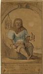 931 Willem Beukelsz., uitvinder van het haringkaken te Biervliet, zittend op vismand, met mes in linkerhand en vis in ...