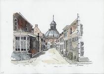964-1077 Gezicht in de Schuitvlotstraat te Middelburg, met op de achtergrond de Oostkerk.