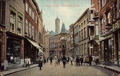10340 Gezicht in de Lange Delft te Middelburg met achter de toren van de Provinciale Bibliotheek