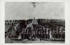 10661 Reproductie van een schilderij van de buitenplaats Munnikenhof te Grijpskerke door W. Schellinckx