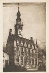1094 Gezicht op het stadhuis te Veere naar een ets van Eugène Lücker