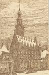 1099 Gezicht op het stadhuis te Veere naar een tekening