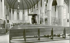 11381 Het interieur van de Nederlandse Hervormde kerk te Dreischor
