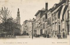 1662 Gezicht op de Dam te Middelburg met de graanbeurs en de Lange Giststraat