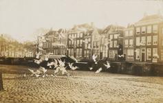 1703 Vogels bij de kademuur aan de Dam te Middelburg, met gezicht op de Dam Zuidzijde