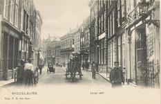 1847 Gezicht op de Lange Delft te Middelburg met rechts hotel Verseput
