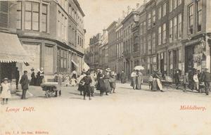 1851 Gezicht vanaf de Grote Markt op de Lange Delft te Middelburg