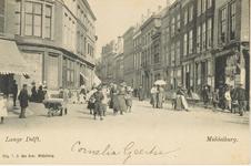 1852 Gezicht vanaf de Grote Markt op de Lange Delft te Middelburg