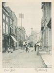 1874 Gezicht op de Lange Delft te Middelburg met op de achtergrond de Gasthuiskerk