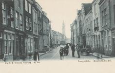 1989 Gezicht in de Langeviele te Middelburg met op de achtergrond de Abdijtoren