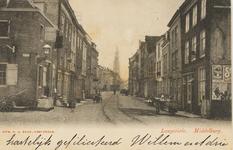 1997 Gezicht in de Langeviele te Middelburg, links de hoek met de Molenberg en rechts de Beenhouwerssingel, op de ...