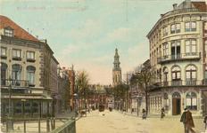 2133 Gezicht in de Stationsstraat te Middelburg met links de hoek met de Blauwedijk (verhuurder van paarden en ...
