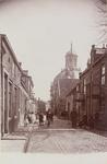2151 Gezicht in de Verwerijstraat te Middelburg met op de achtergrond de Oostkerk