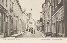 2171 Gezicht in de Wagenaarstraat te Middelburg met op de achtergrond de Sint Jorisdoelen aan de Balans