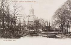 2352 Gezicht op het Veersebolwerk en de Oostkerk te Middelburg