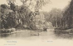 2355 Gezicht op het Seisbolwerk met brug en vishengels te Middelburg